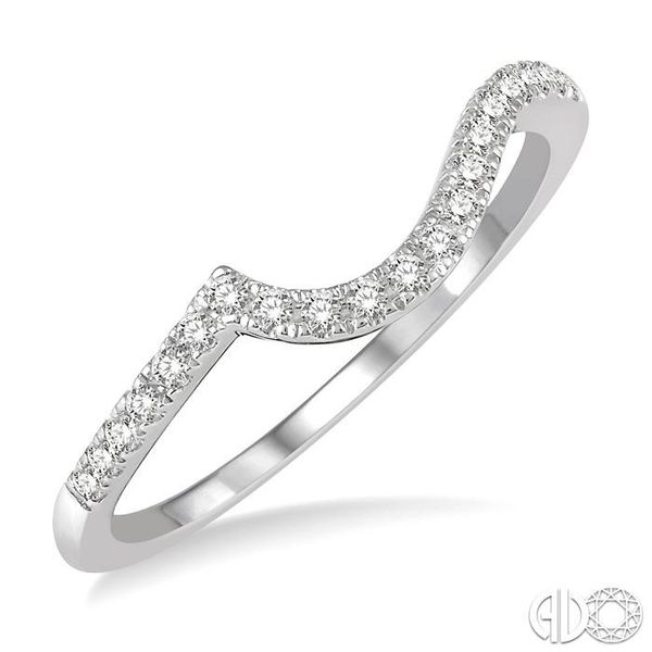 1/6 Ctw Curve Round Cut Diamond Wedding Band in 14K White Gold Becker's Jewelers Burlington, IA