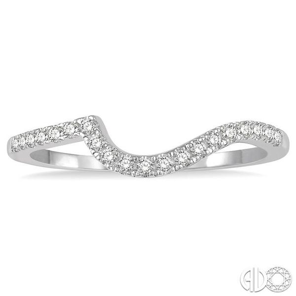 1/6 Ctw Curve Round Cut Diamond Wedding Band in 14K White Gold Image 2 Becker's Jewelers Burlington, IA