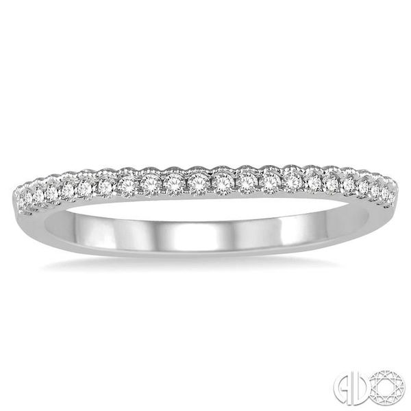 1/6 Ctw Round Diamond Wedding Band in 14K White Gold Image 2 Becker's Jewelers Burlington, IA