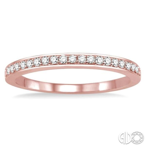 1/10 Ctw Round Cut Diamond Wedding Band in 14K Rose Gold Image 2 Becker's Jewelers Burlington, IA