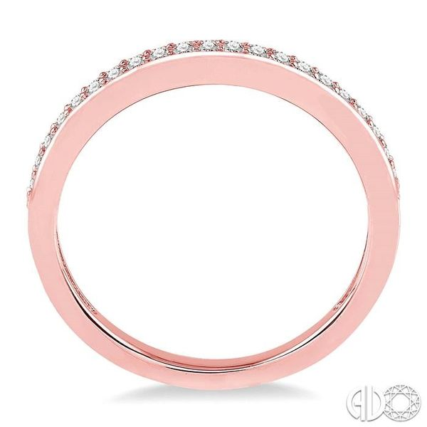 1/10 Ctw Round Cut Diamond Wedding Band in 14K Rose Gold Image 3 Becker's Jewelers Burlington, IA