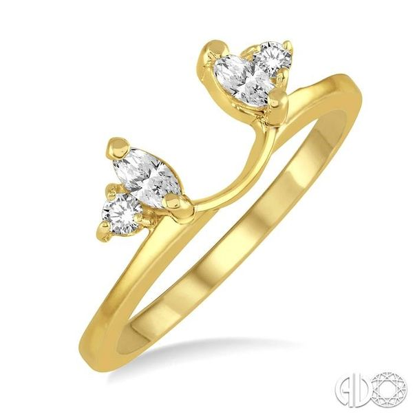 1/5 Ctw Marquise and Round cut Diamond Wrap Ring in 14K Yellow Gold Becker's Jewelers Burlington, IA