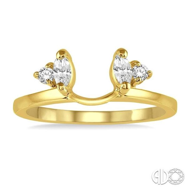 1/5 Ctw Marquise and Round cut Diamond Wrap Ring in 14K Yellow Gold Image 2 Becker's Jewelers Burlington, IA