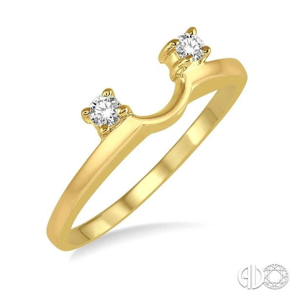 1/10 Ctw Round Cut Diamond Wrap Ring in 14K Yellow Gold Becker's Jewelers Burlington, IA