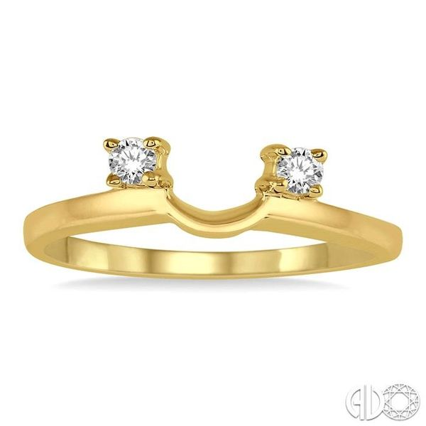 1/10 Ctw Round Cut Diamond Wrap Ring in 14K Yellow Gold Image 2 Becker's Jewelers Burlington, IA