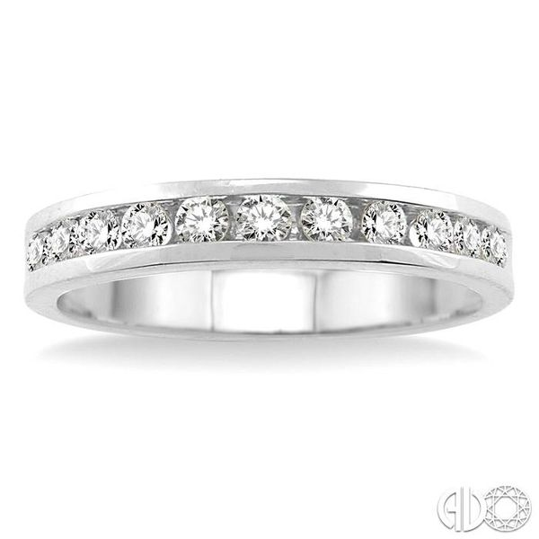 1/2 Ctw Round Cut Diamond Wedding Band in 14K White Gold Image 2 Becker's Jewelers Burlington, IA