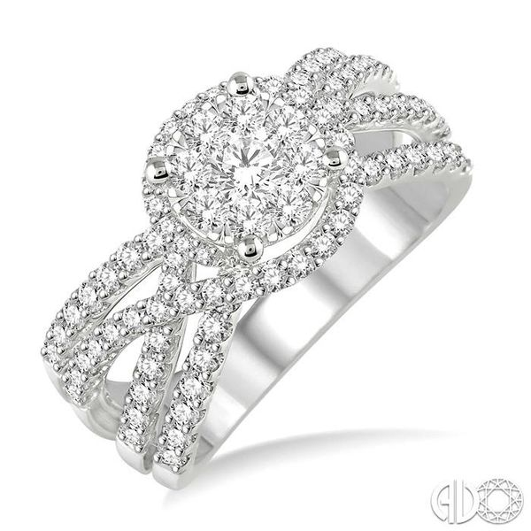 1 Ctw Diamond Lovebright Ring in 14K White Gold Becker's Jewelers Burlington, IA