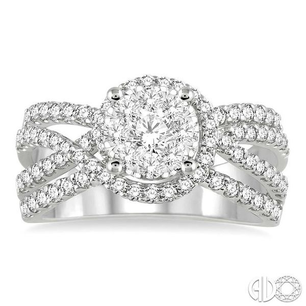 1 Ctw Diamond Lovebright Ring in 14K White Gold Image 2 Becker's Jewelers Burlington, IA
