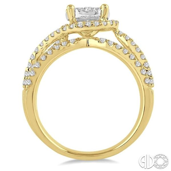 1 Ctw Diamond Lovebright Ring in 14K Yellow and White Gold Image 3 Becker's Jewelers Burlington, IA