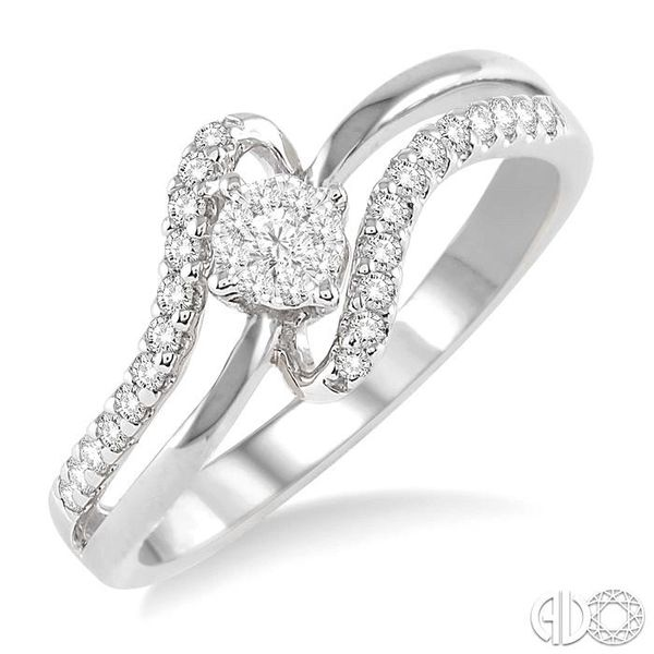 1/4 Ctw Lovebright Round Cut Diamond Ring in 14K White Gold Becker's Jewelers Burlington, IA