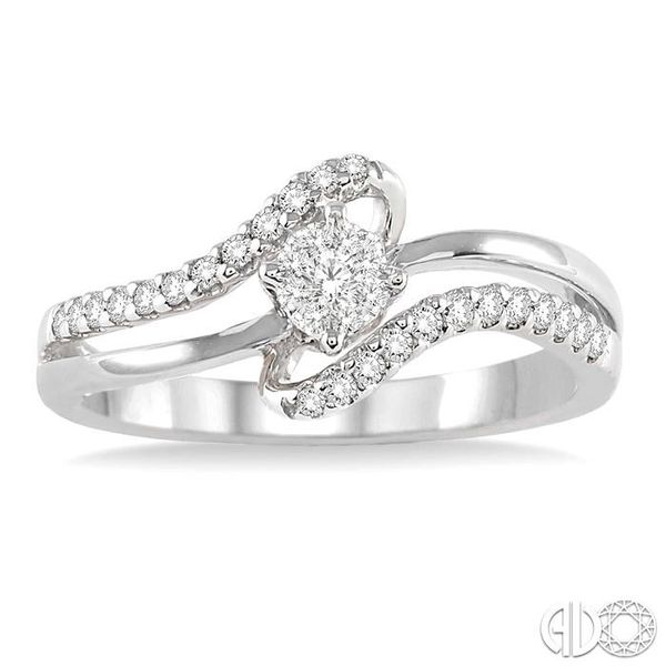 1/4 Ctw Lovebright Round Cut Diamond Ring in 14K White Gold Image 2 Becker's Jewelers Burlington, IA
