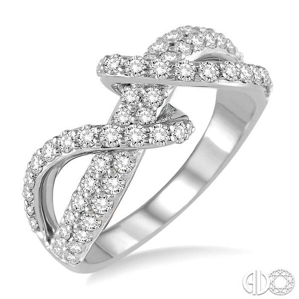 1 1/10 Ctw Round Cut Diamond Fashion Ring in 14K White Gold Becker's Jewelers Burlington, IA
