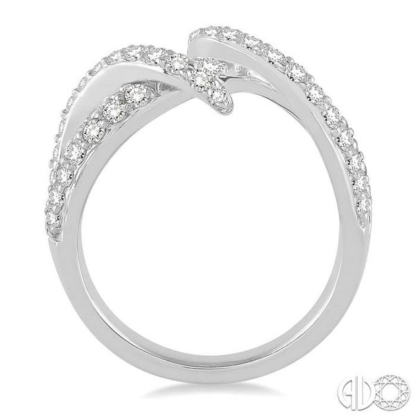 1 1/10 Ctw Round Cut Diamond Fashion Ring in 14K White Gold Image 3 Becker's Jewelers Burlington, IA