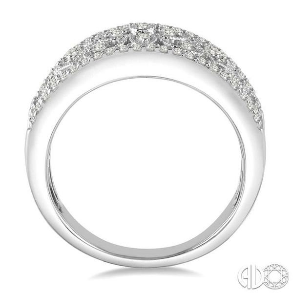 1/3 Ctw Floral Cutwork Round Cut Diamond Ladies Ring in 14K White Gold Image 3 Becker's Jewelers Burlington, IA