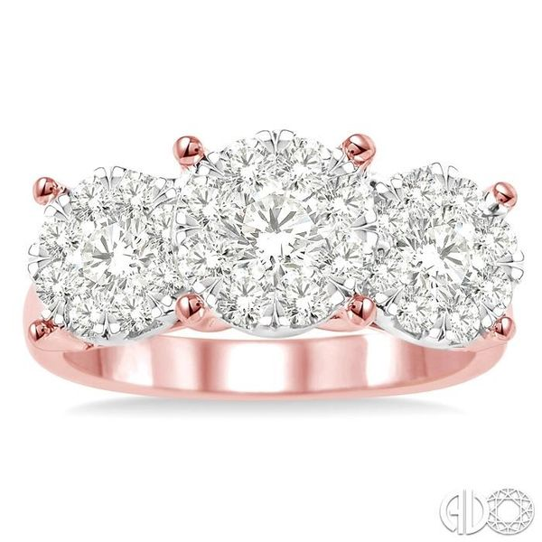 1 1/2 Ctw Lovebright Round Cut Diamond Ring in 14K Rose and White Gold Image 2 Becker's Jewelers Burlington, IA