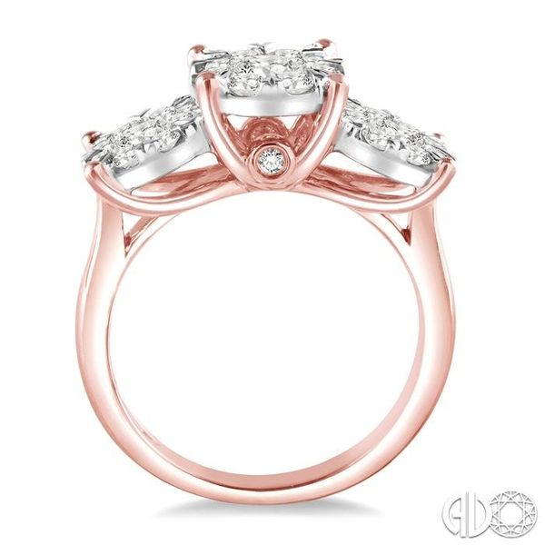 1 1/2 Ctw Lovebright Round Cut Diamond Ring in 14K Rose and White Gold Image 3 Becker's Jewelers Burlington, IA