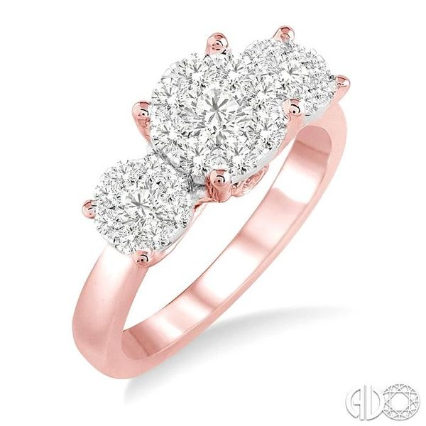 1 Ctw Lovebright Round Cut Diamond Ring in 14K Rose and White Gold Becker's Jewelers Burlington, IA