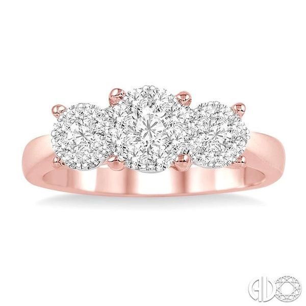 1 Ctw Lovebright Round Cut Diamond Ring in 14K Rose and White Gold Image 2 Becker's Jewelers Burlington, IA