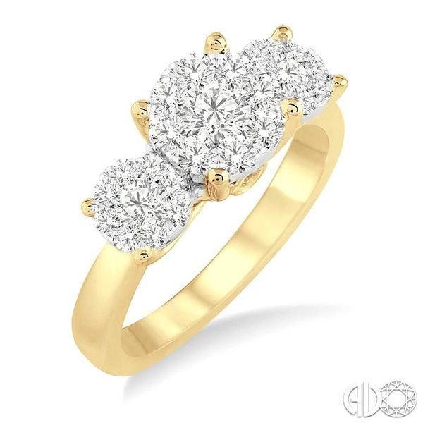 1 Ctw Lovebright Round Cut Diamond Ring in 14K Yellow and White Gold Becker's Jewelers Burlington, IA