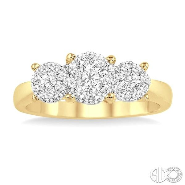 1 Ctw Lovebright Round Cut Diamond Ring in 14K Yellow and White Gold Image 2 Becker's Jewelers Burlington, IA