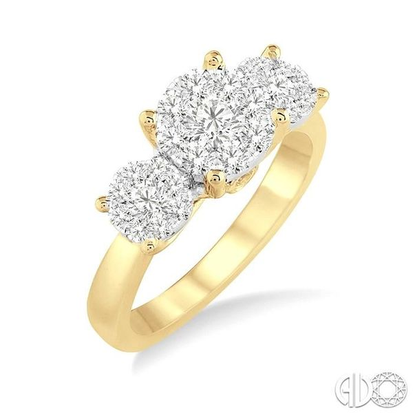 3/4 Ctw Lovebright Round Cut Diamond Ring in 14K Yellow and White Gold Becker's Jewelers Burlington, IA