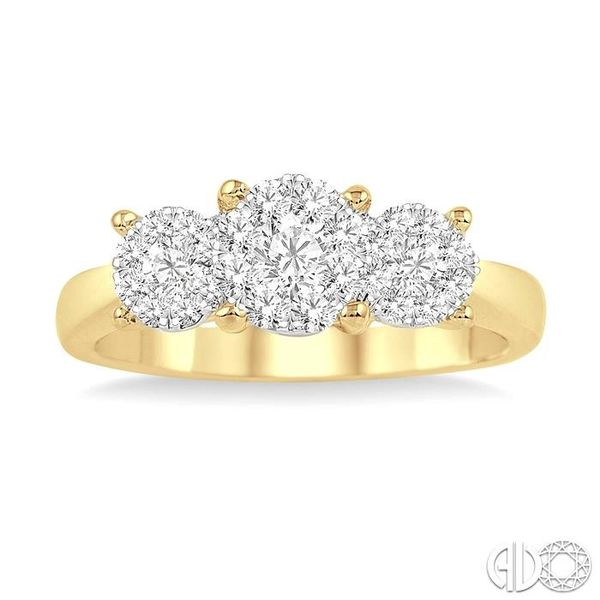 3/4 Ctw Lovebright Round Cut Diamond Ring in 14K Yellow and White Gold Image 2 Becker's Jewelers Burlington, IA