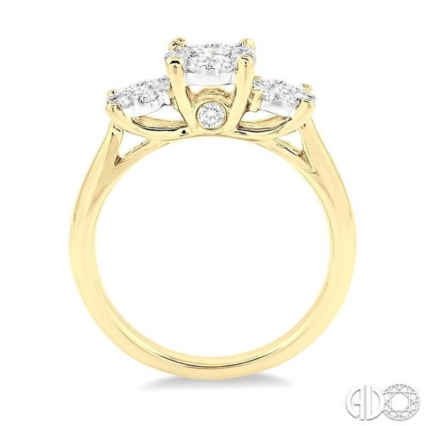 3/4 Ctw Lovebright Round Cut Diamond Ring in 14K Yellow and White Gold Image 3 Becker's Jewelers Burlington, IA