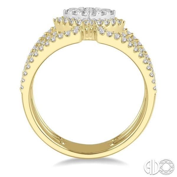 1 Ctw Cushion Shape Mount Lovebright Round Cut Diamond Ring in 14K Yellow and White Gold Image 3 Becker's Jewelers Burlington, IA
