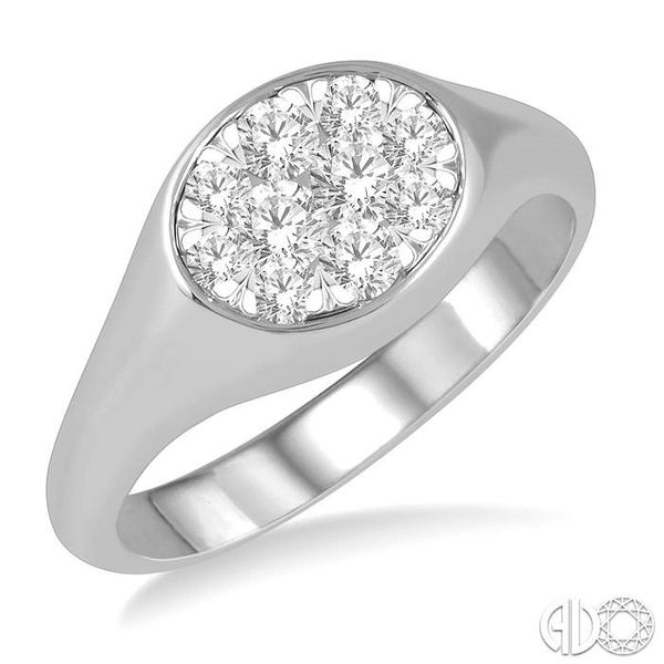 1/2 ctw Oval Shape Lovebright Diamond Ring in 14K White Gold Becker's Jewelers Burlington, IA