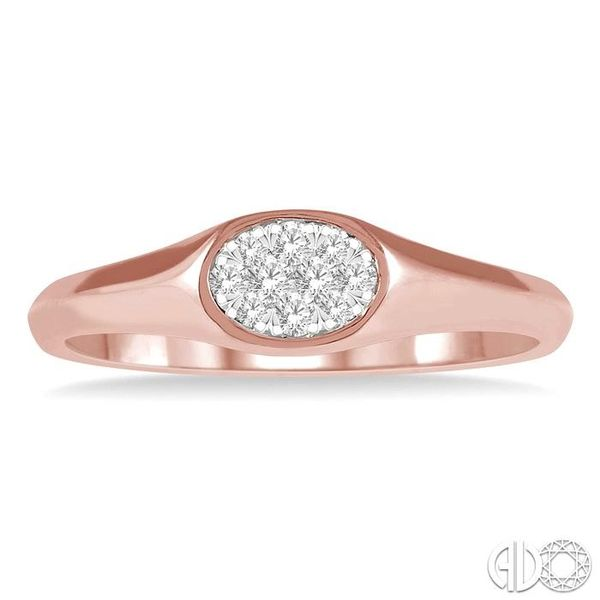 1/8 ctw Oval Shape Lovebright Diamond Ring in 14K Rose And White Gold Image 2 Becker's Jewelers Burlington, IA