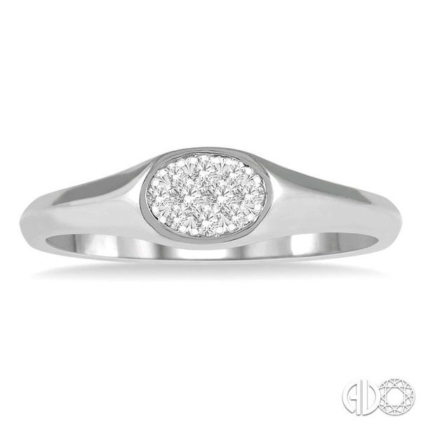1/8 ctw Oval Shape Lovebright Diamond Ring in 14K White Gold Image 2 Becker's Jewelers Burlington, IA