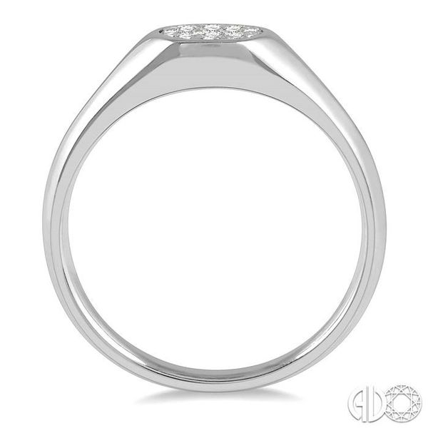 1/8 ctw Oval Shape Lovebright Diamond Ring in 14K White Gold Image 3 Becker's Jewelers Burlington, IA