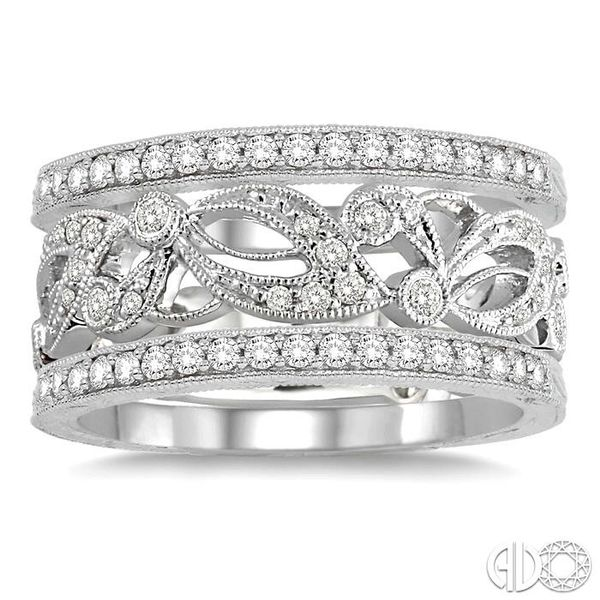 1/2 Ctw Round Cut Diamond Triple Band Set in 14K white Gold Image 2 Becker's Jewelers Burlington, IA