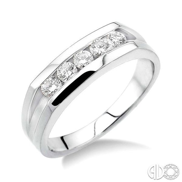 1/2 Ctw Round Cut Men's Diamond Ring in 14K White Gold Becker's Jewelers Burlington, IA