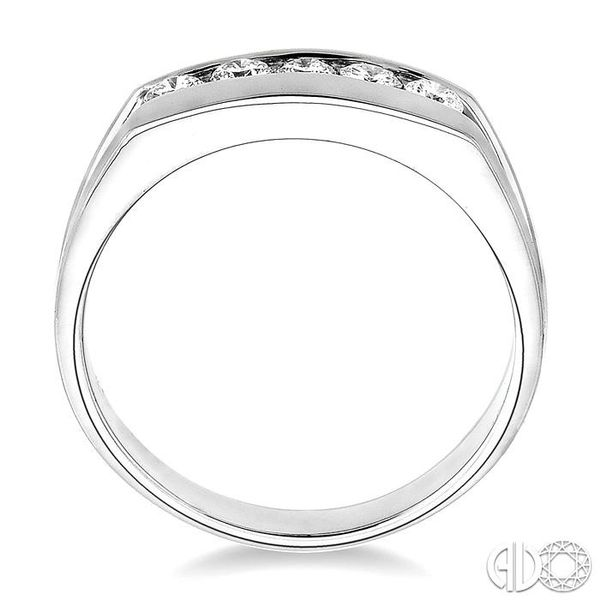 1/2 Ctw Round Cut Men's Diamond Ring in 14K White Gold Image 3 Becker's Jewelers Burlington, IA