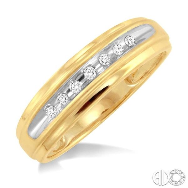 1/20 Ctw Round Cut Diamond Men's Duo Ring in 14K Yellow Gold Becker's Jewelers Burlington, IA