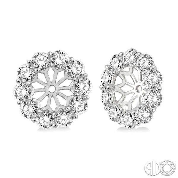 1 Ctw Round Cut Diamond Earring Jacket in 14K White Gold Becker's Jewelers Burlington, IA
