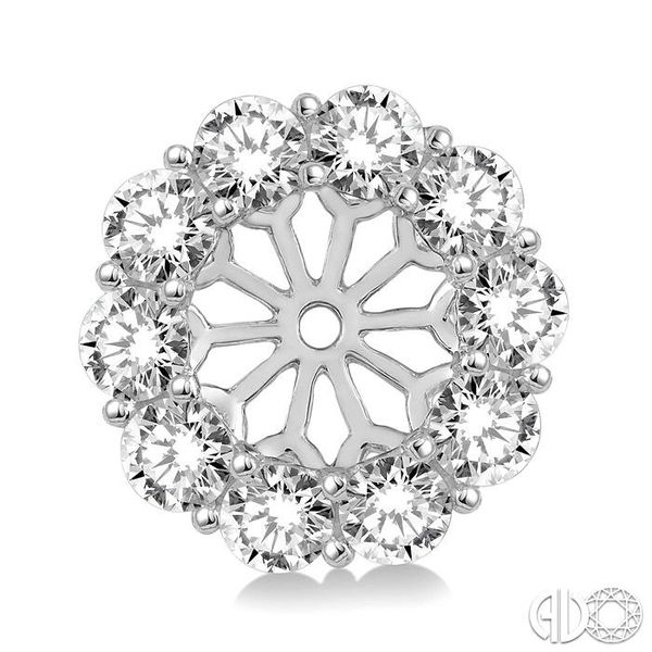 1 Ctw Round Cut Diamond Earring Jacket in 14K White Gold Image 2 Becker's Jewelers Burlington, IA