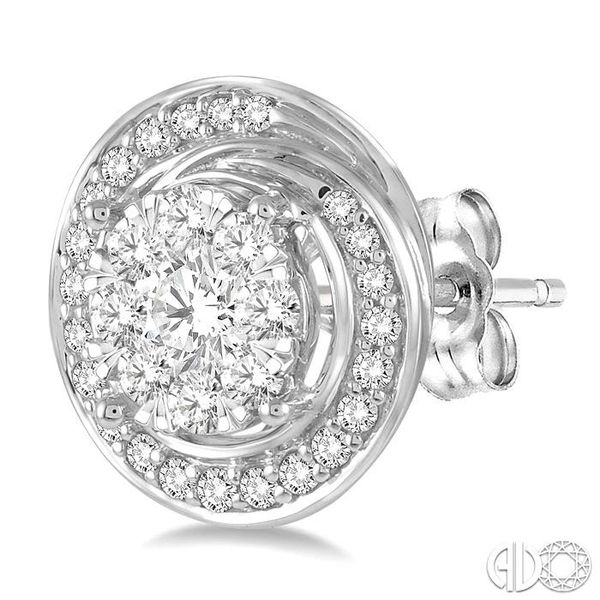 5/8 Ctw Diamond Lovebright Earrings in 14K White Gold Image 3 Becker's Jewelers Burlington, IA