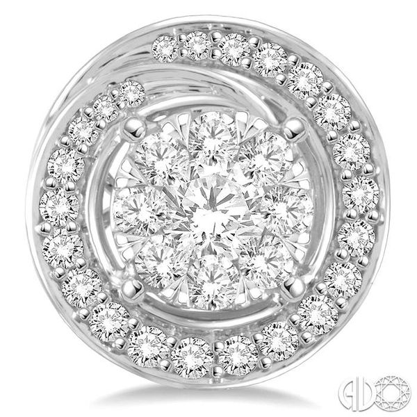 5/8 Ctw Diamond Lovebright Earrings in 14K White Gold Image 2 Becker's Jewelers Burlington, IA
