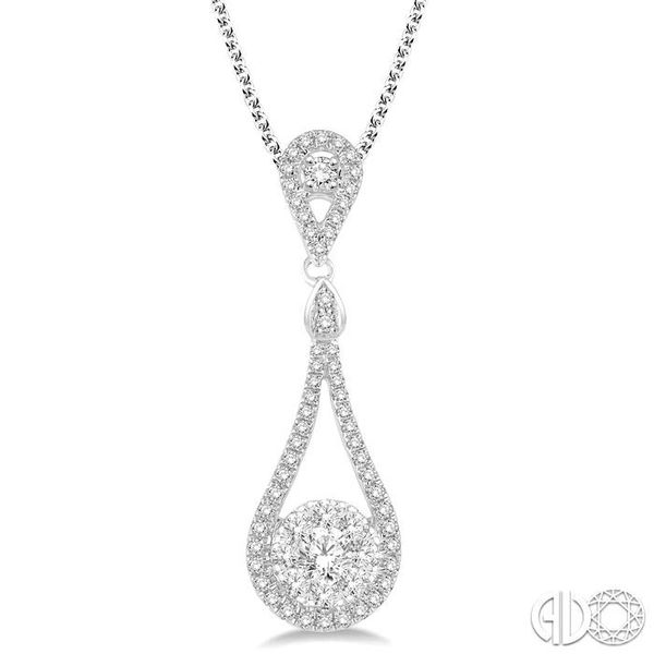 3/4 Ctw Diamond Lovebright Pendant in 14K White Gold with Chain Becker's Jewelers Burlington, IA