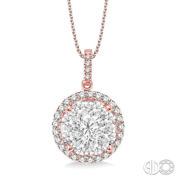2 Ctw Lovebright Round Cut Diamond Pendant in 14K Rose Gold with Chain Becker's Jewelers Burlington, IA