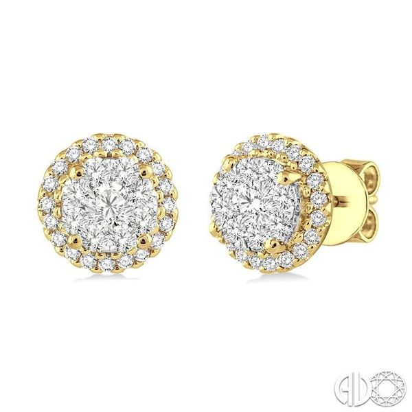 3/4 Ctw Lovebright Round Cut Diamond Earrings in 14K Yellow and White Gold Becker's Jewelers Burlington, IA