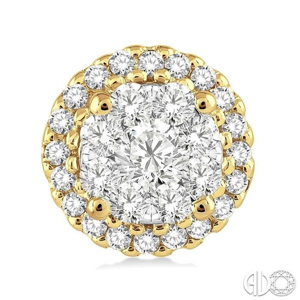 1/2 Ctw Lovebright Round Cut Diamond Earrings in 14K Yellow and White Gold Image 2 Becker's Jewelers Burlington, IA