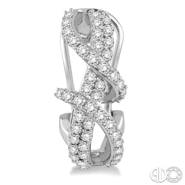 7/8 Ctw Round Cut Diamond Earrings in 14K White Gold Image 2 Becker's Jewelers Burlington, IA