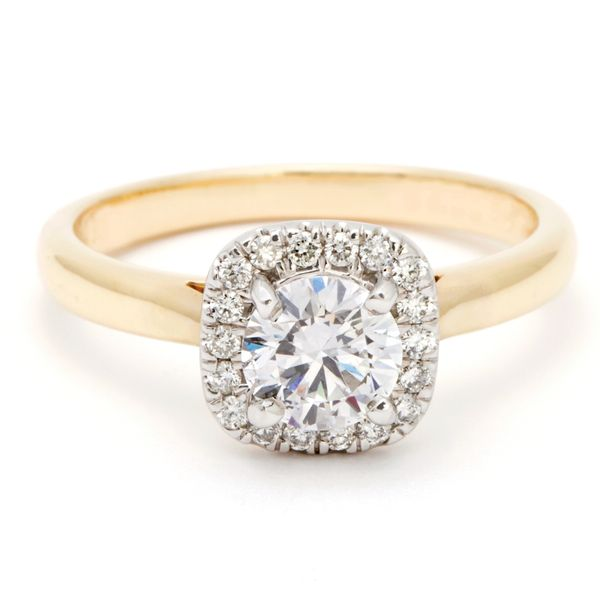 Cushion Halo Diamond Engagement Ring in Yellow Gold (0.87ctw) Bremer Jewelry Peoria, IL