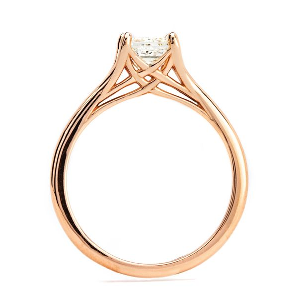 Split Shank Princess Cut Diamond Solitaire in Rose Gold Image 3 Bremer Jewelry Peoria, IL