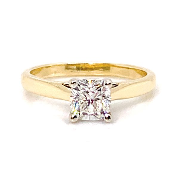 Forevermark Diamond Solitaire Engagement Ring in Yellow Gold Bremer Jewelry Peoria, IL
