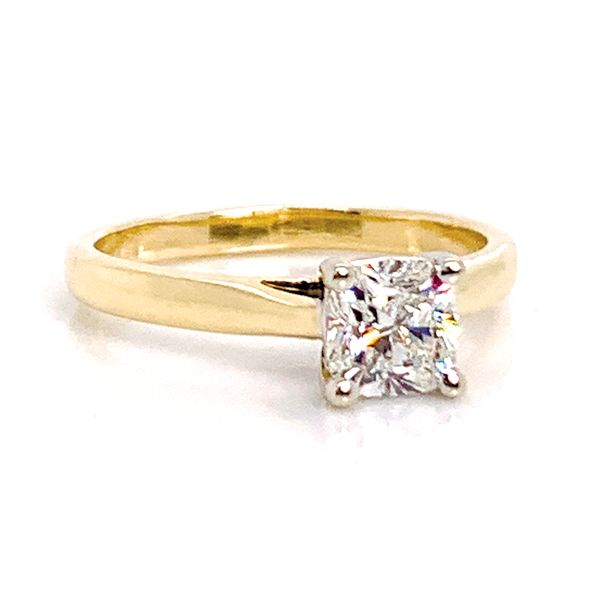 Forevermark Diamond Solitaire Engagement Ring in Yellow Gold Image 2 Bremer Jewelry Peoria, IL