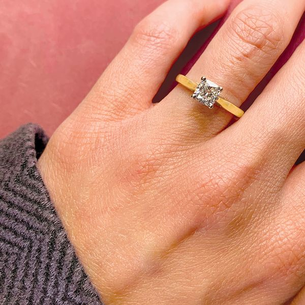 Forevermark Diamond Solitaire Engagement Ring in Yellow Gold Image 3 Bremer Jewelry Peoria, IL